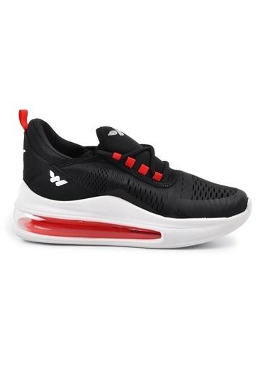Walkway 720 Siyah-KırmızıUnisex Spor Ayakkabı Siyah